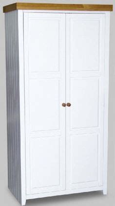 White And Pine Wardrobe by Wardrobe Pine 3 Door Hanging And Shelving Mexican Pine