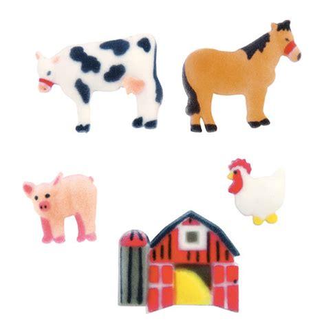 Farm Animal Decor by Lucks Farm Animals Sugar Decorations