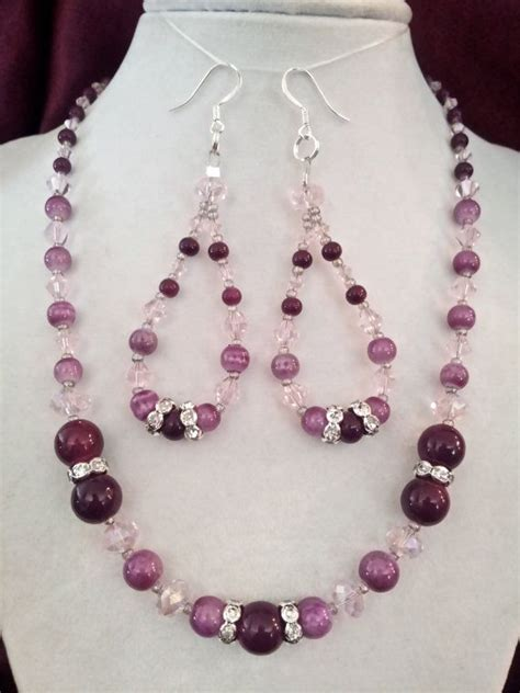 ideas for beaded necklaces beaded necklace and earring set jewelry ideas