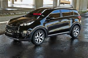 All new 2016 kia sportage revealed in leaked images practical