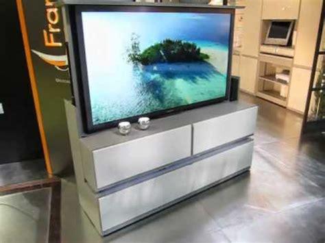 Lit Tele Integre by Meuble Tv 233 Cran Plat Escamotable T 233 L 233 Command 233 Fran 231 Ois
