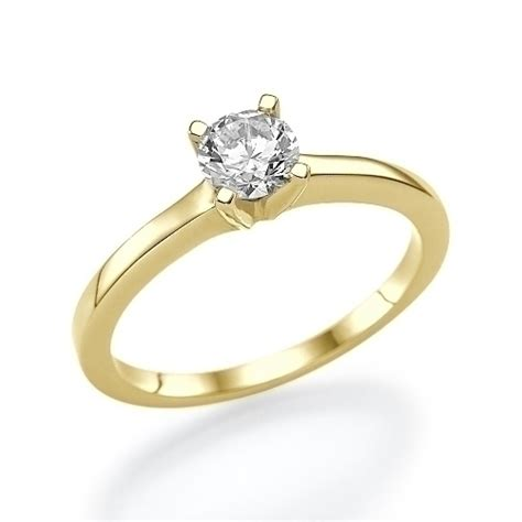 2 ct solitaire engagement ring 14k white gold