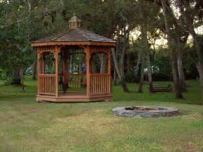 gazebo and pit in the backyard flickr photo