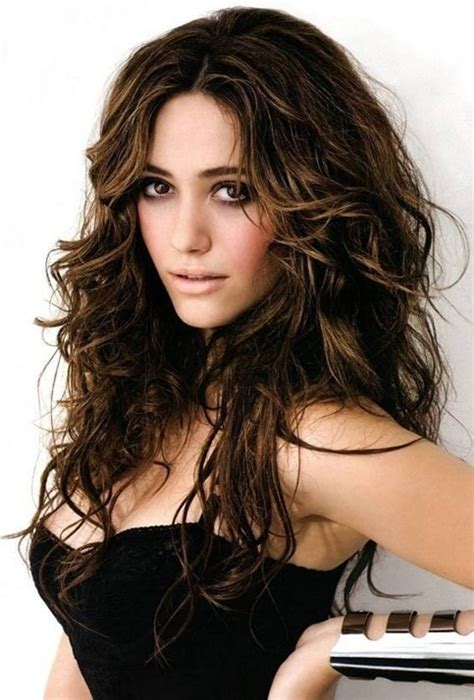 Hairstyles For Long Hair Messy | brown messy hairstyle for long hair emmy rossum s
