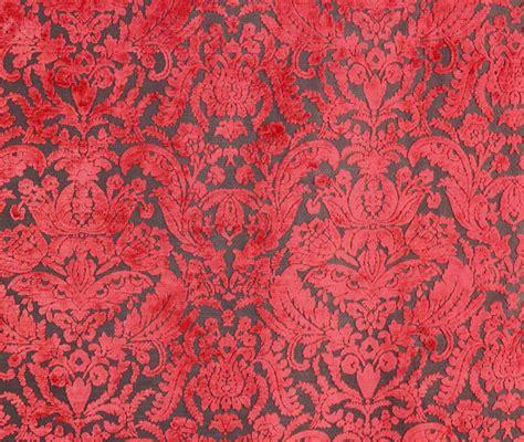 Damask Upholstery Fabric by Prague Chianti Damask Velvet Upholstery Fabric By