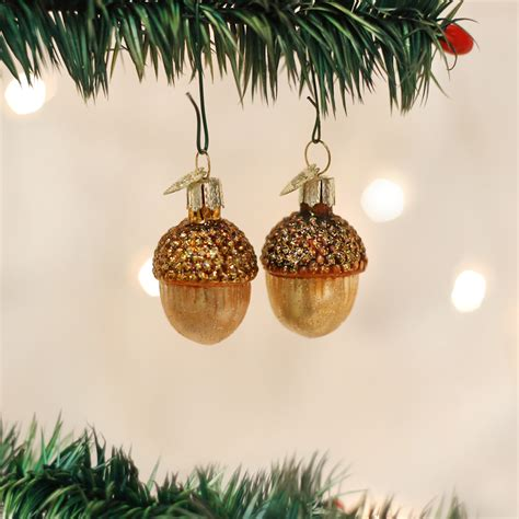 small acorn ornaments old world christmas glass acorns