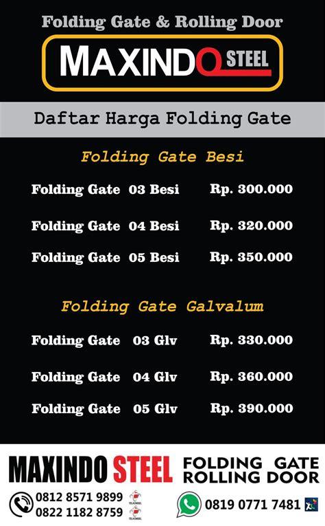 Jual Sho Metal Di Bekasi jual folding gate bekasi