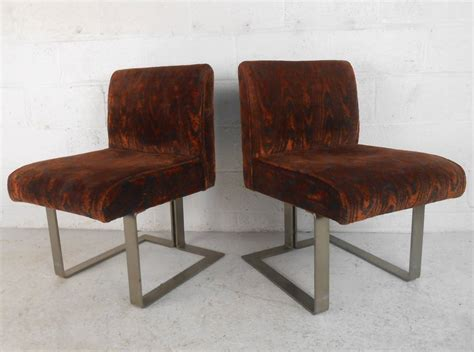 set of unique mid century modern kagan style dining chairs