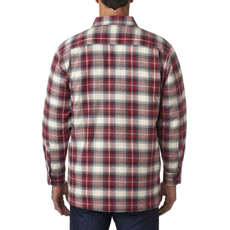 Mens Flannel Shirt Jacket With Quilted Lining by Backpacker S Independent Flannel Shirt Jacket With Quilted Lining