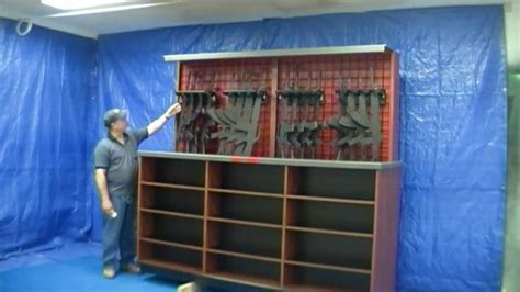 Wall Cabinets Canada Assault Rifle Lift Case Display Solutions Of Topeka Youtube