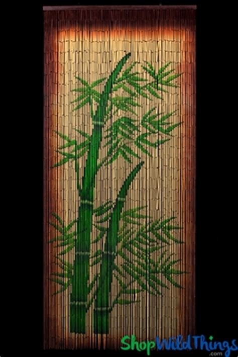 bamboo painted curtains bamboo stalks painted curtain tropical dcor