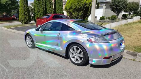 holographic jeep holographic silver chrome eclipse in sunlight