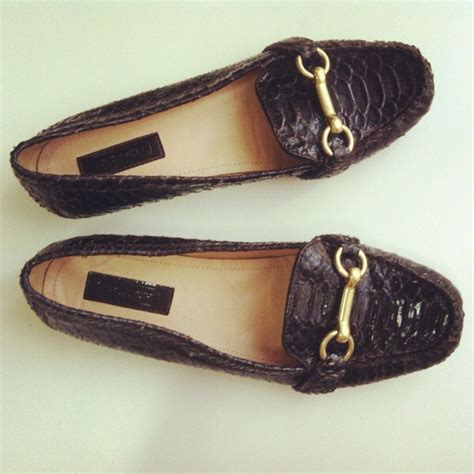 brown coach loafers coach brown snakeskin horsebit loafers 8 on storenvy