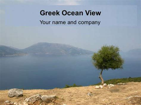 powerpoint themes greece greek ocean view powerpoint template