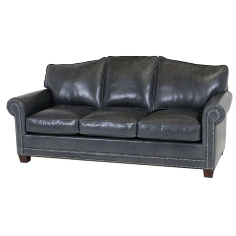 classic leather larsen sofa arched back 58 larsen