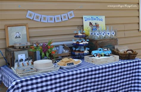 Blue And Green Baby Shower Supplies