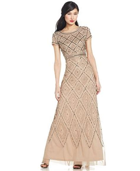cap sleeve beaded illusion gown papell cap sleeve beaded illusion gown dresses