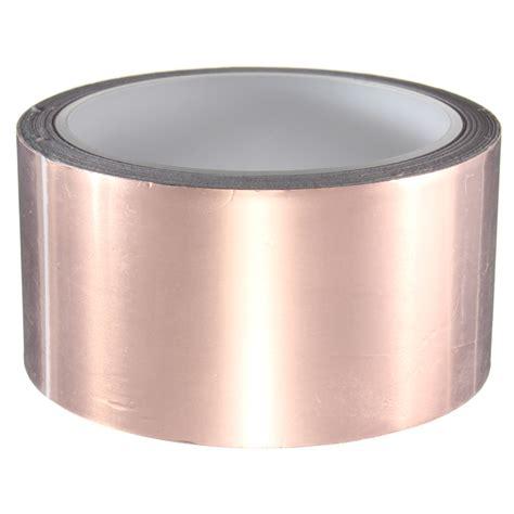 1 pcs 50mm x 10m copper foil pedal sided adhesive emi shielding cad 13 08