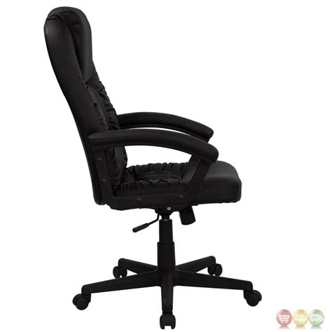 black swivel office chair high back black leather executive swivel office chair bt