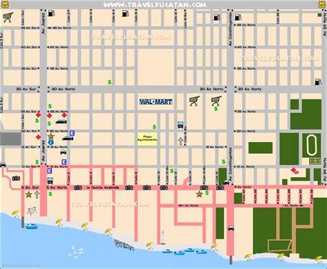 printable map playa del carmen playa del carmen map travel yucatan