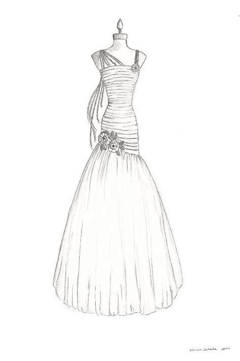 brautkleider zeichnungen custom wedding dress illustration bridal gown by