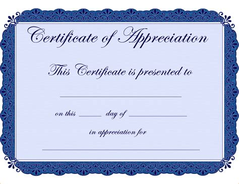 template for certificate of appreciation 7 certificate of appreciation template free teknoswitch