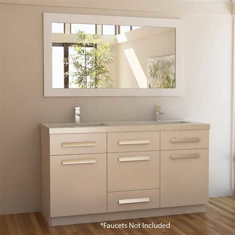 design elements moscony design element 60 quot moscony double sink bathroom vanity