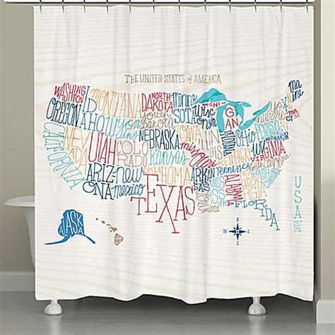 united states shower curtain laural home 174 united states colored states map shower