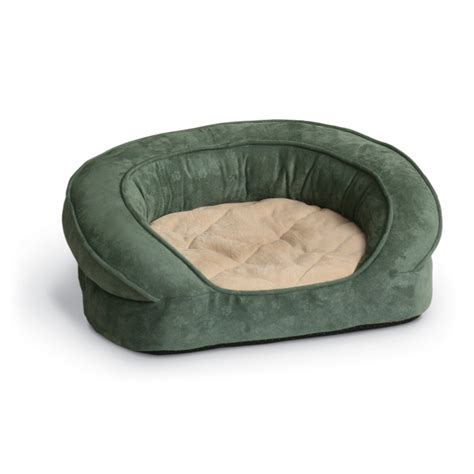 bolster dog bed k h deluxe round ortho bolster sleeper large green paw