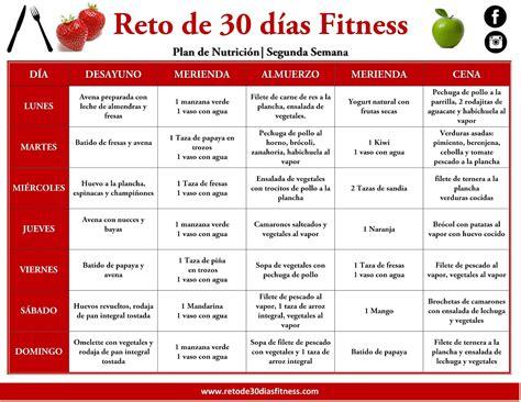 Calendario De Peso Plan Nutricional Para Bajar De Peso Segunda Semana