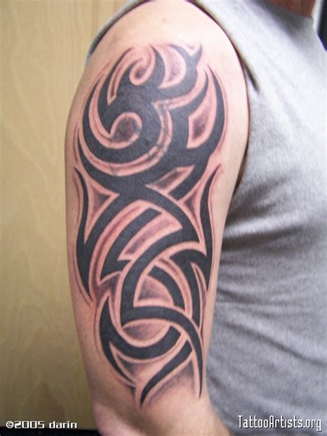 shaded tattoo sleeve designs shaded tribal arm sleeve artists org
