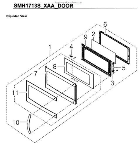 samsung microwave parts diagram samsung de61 01353a support handle ml1 md3 p