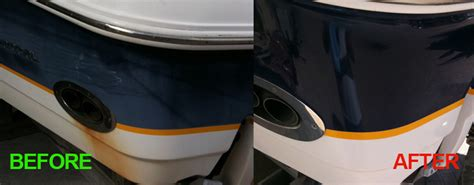 buffing a boat boat detailing in naples florida premier polishing