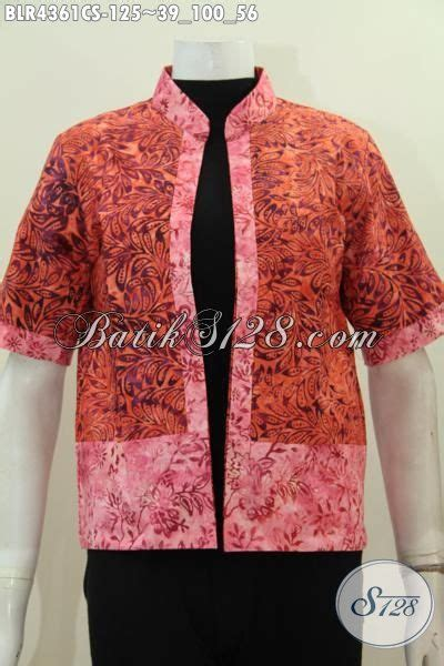 Kemeja Lengan Pendek Stik Balik model baju batik wanita terbaru 2018 model baju batik