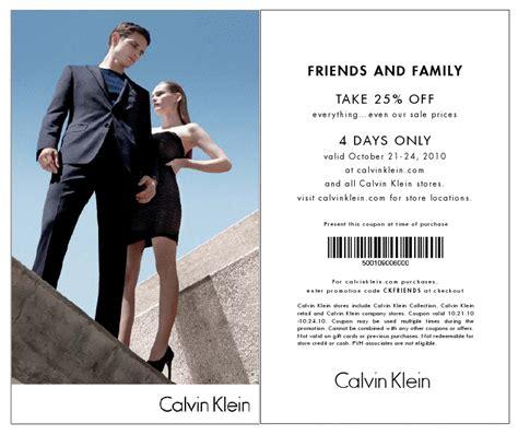 printable calvin klein outlet coupons 25 off calvin klein the luxury spotthe luxury spot
