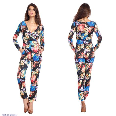 Sleeve Floral Jumpsuit fashion summer colorful sleeve casual vintage floral print jumpsuit rompers