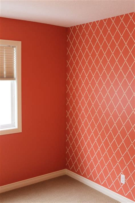 harlequin pattern on wall harlequin trellis wall stencil