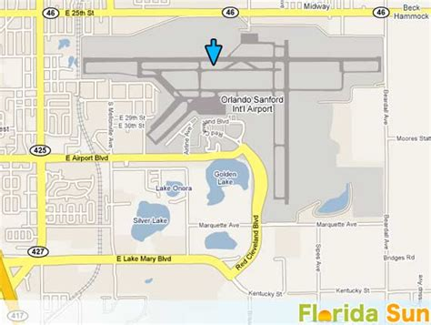 Orlando Sanford International Airport   Rental Car Map