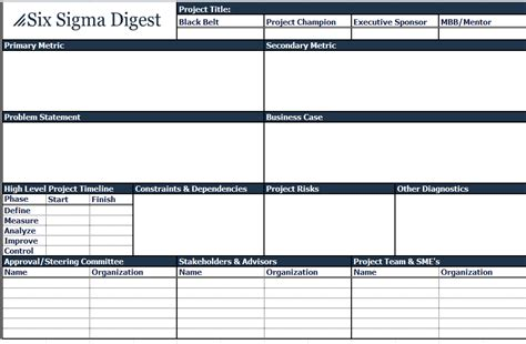 project charter template free simple project charters calendar template 2016