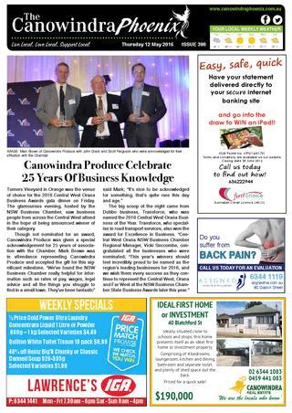 canowindra phoenix issue 390 120516 email by ccnnews issuu