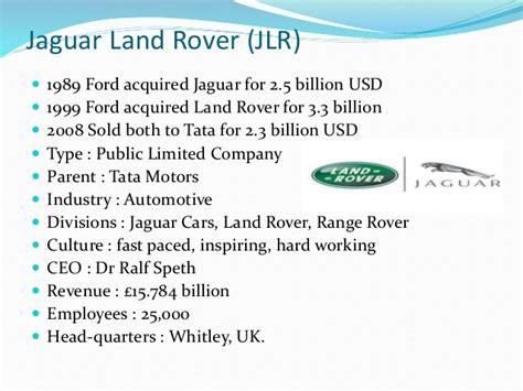 tata and jaguar land rover tata jaguar land rover