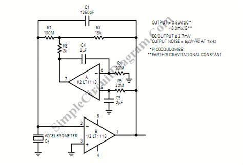 accelerometer circuit diagram accelerometer signal lifier simple circuit diagram