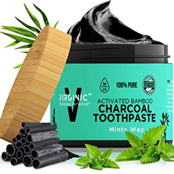 brushing teeth  charcoal powder