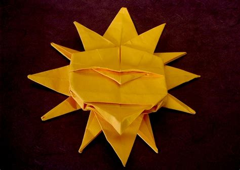 Origami Sun - origami sun 28 images how to make an origami sun page