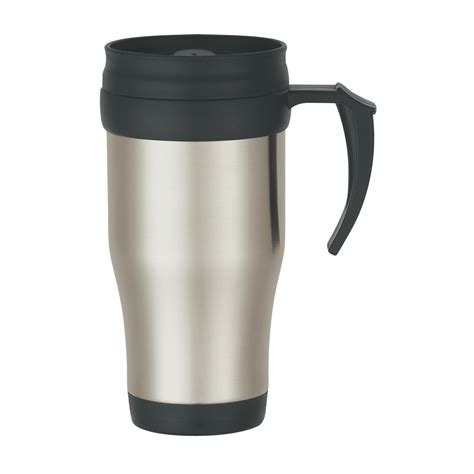 travel mug 5841 16 oz stainless steel slide action travel mug