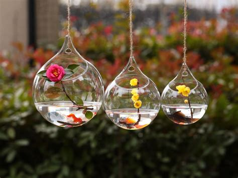 hanging flower vases wedding dia12cm hanging glass vase wedding flower vase decor