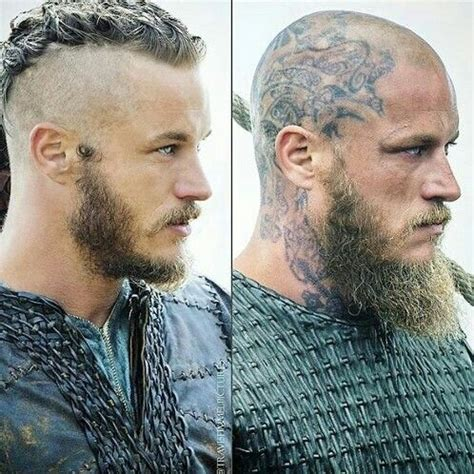 ragnars changing hair and tattoos ragnar vikings vikings pinterest