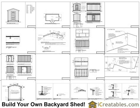 8x16 Shed Plans by 8x16 Shed Plans Shed Plans Storage Shed Plans