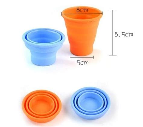 Silicone Foldable Cup sell convenient foldable collapsible silicone cup