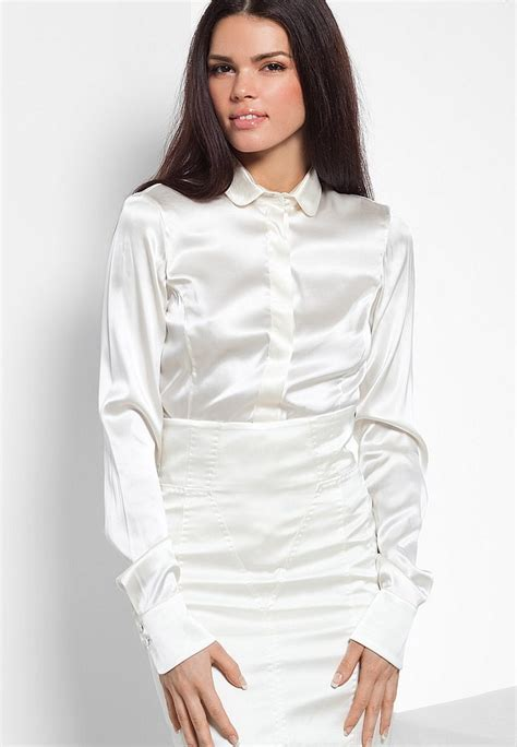 White Tops And Blouses Uk by Satin Blouses White Satin Blouses For